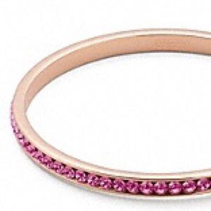 Coach gold + hot pink rhinestone bangle bracelet!!